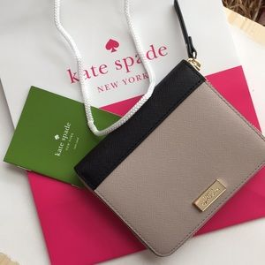 Authentic black and beige Kate Spade wallet